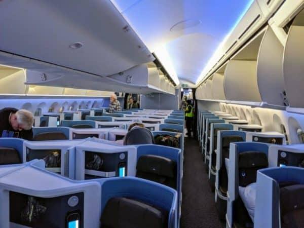 KLM Boeing 787-10 Dreamliner Business Class Cabin