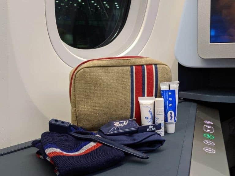 KLM Business Class Amenity Kit
