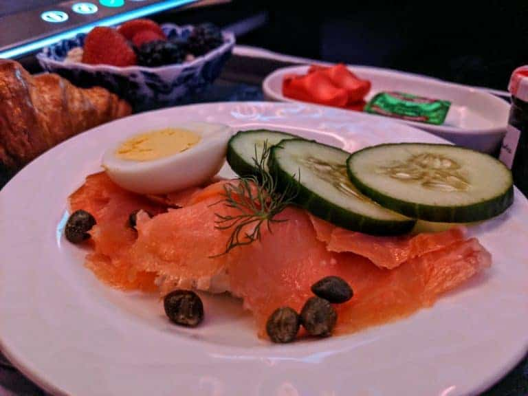 KLM Business Class Breakfast