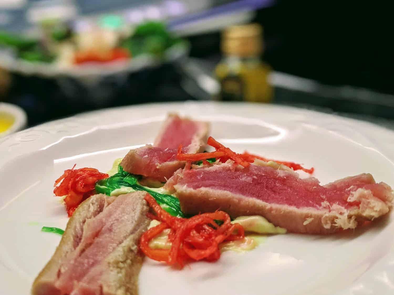 KLM Business Class Tuna Appetizer