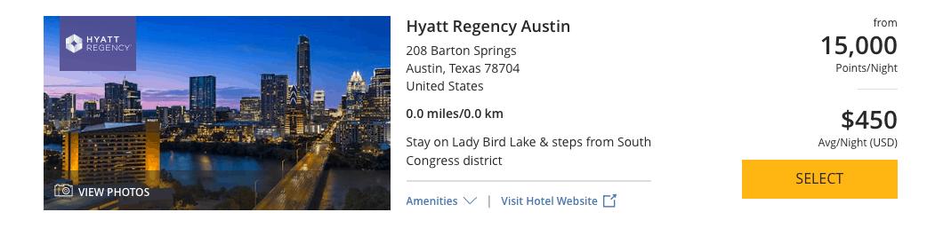 Hyatt Credit Card free night