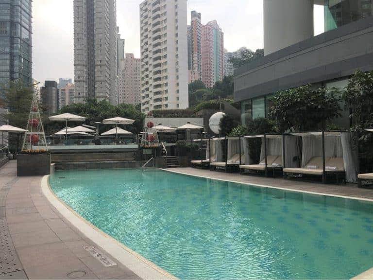 conrad hong kong hotel review - outdoor pool