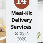 image of meal on counter with text 14 meal kit delivery services