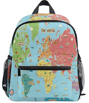 World Map Kid Backpack
