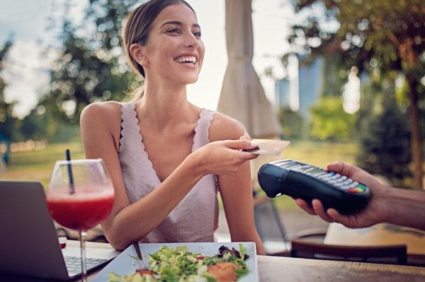 paying gas using credit card