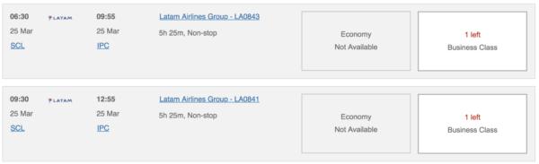 latam flights in chile using Avios