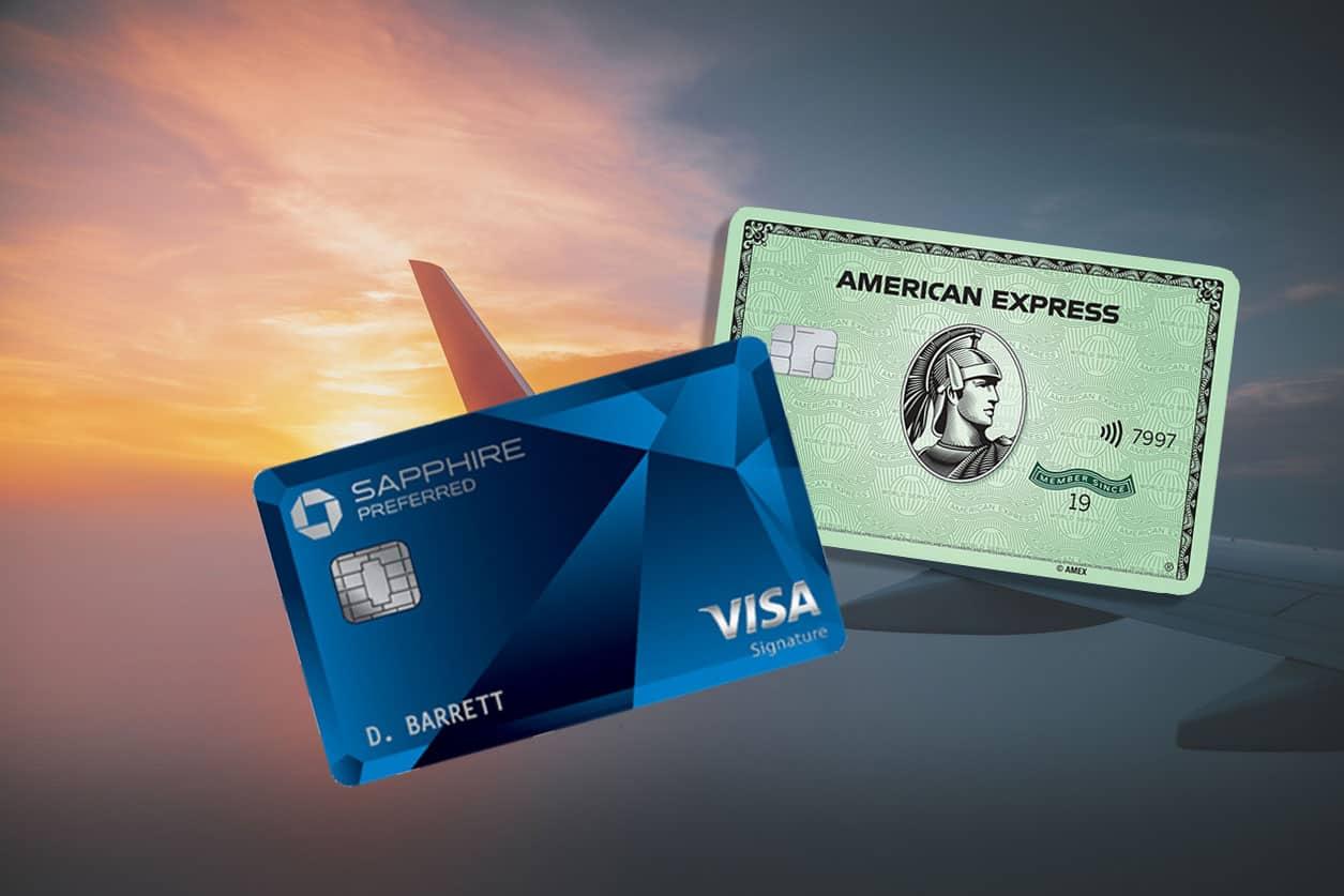 chase sapphire preferred vs amex green credit card