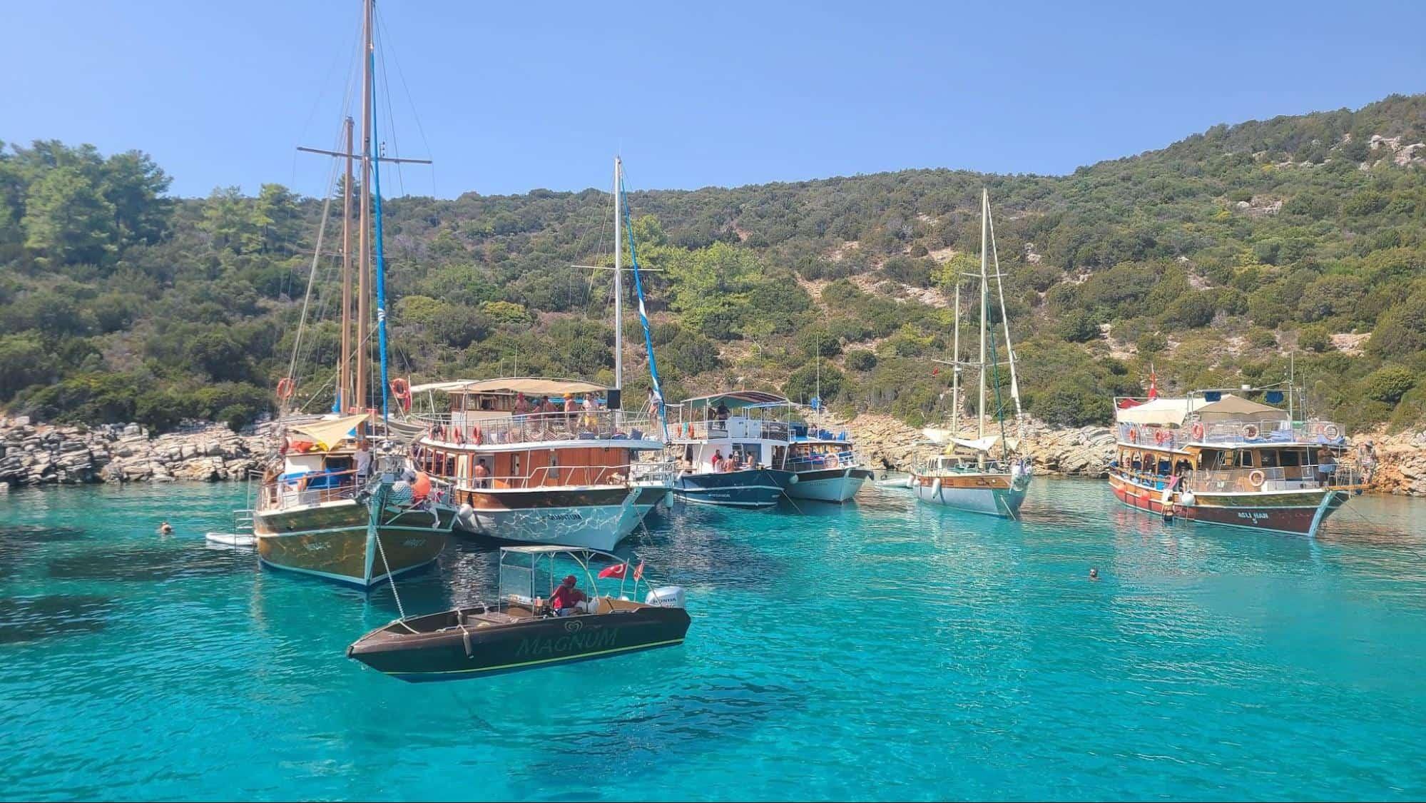 boat excursion to Orak Island from Bodrum, Turkey