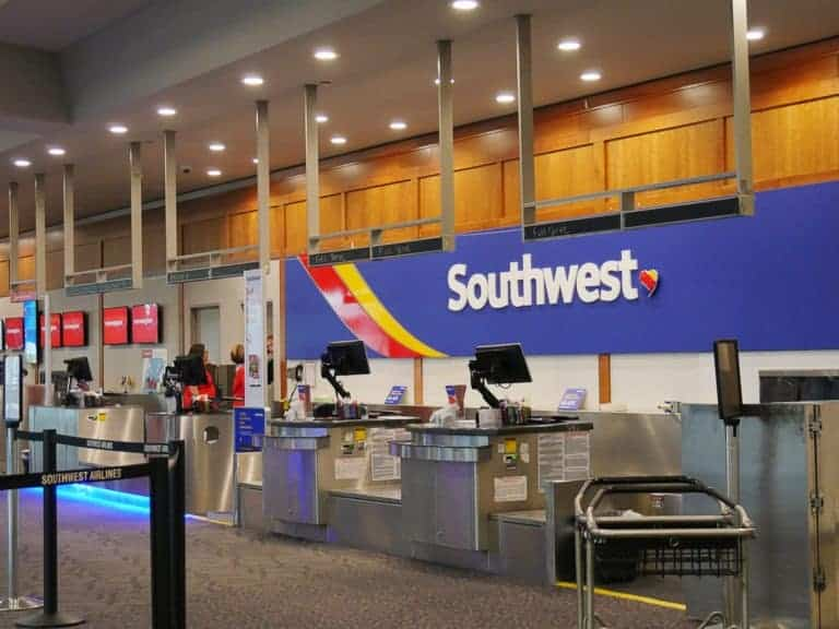 southwest counters at airport