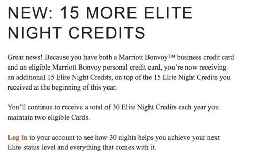 marriott elite night credits