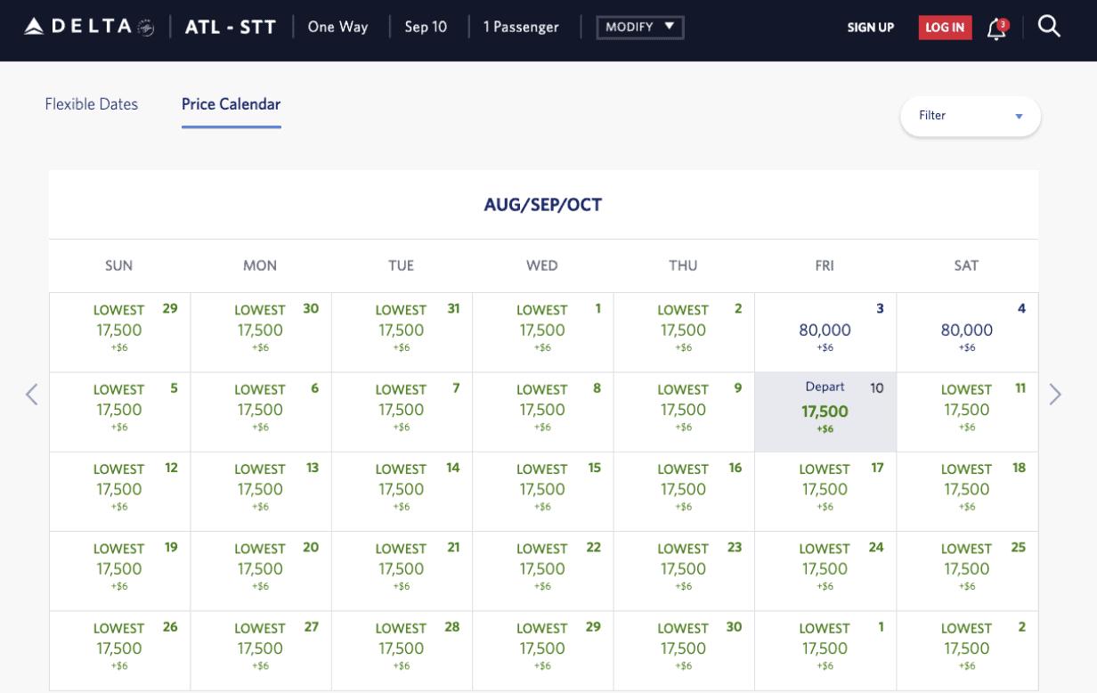 Delta Availability to USVI