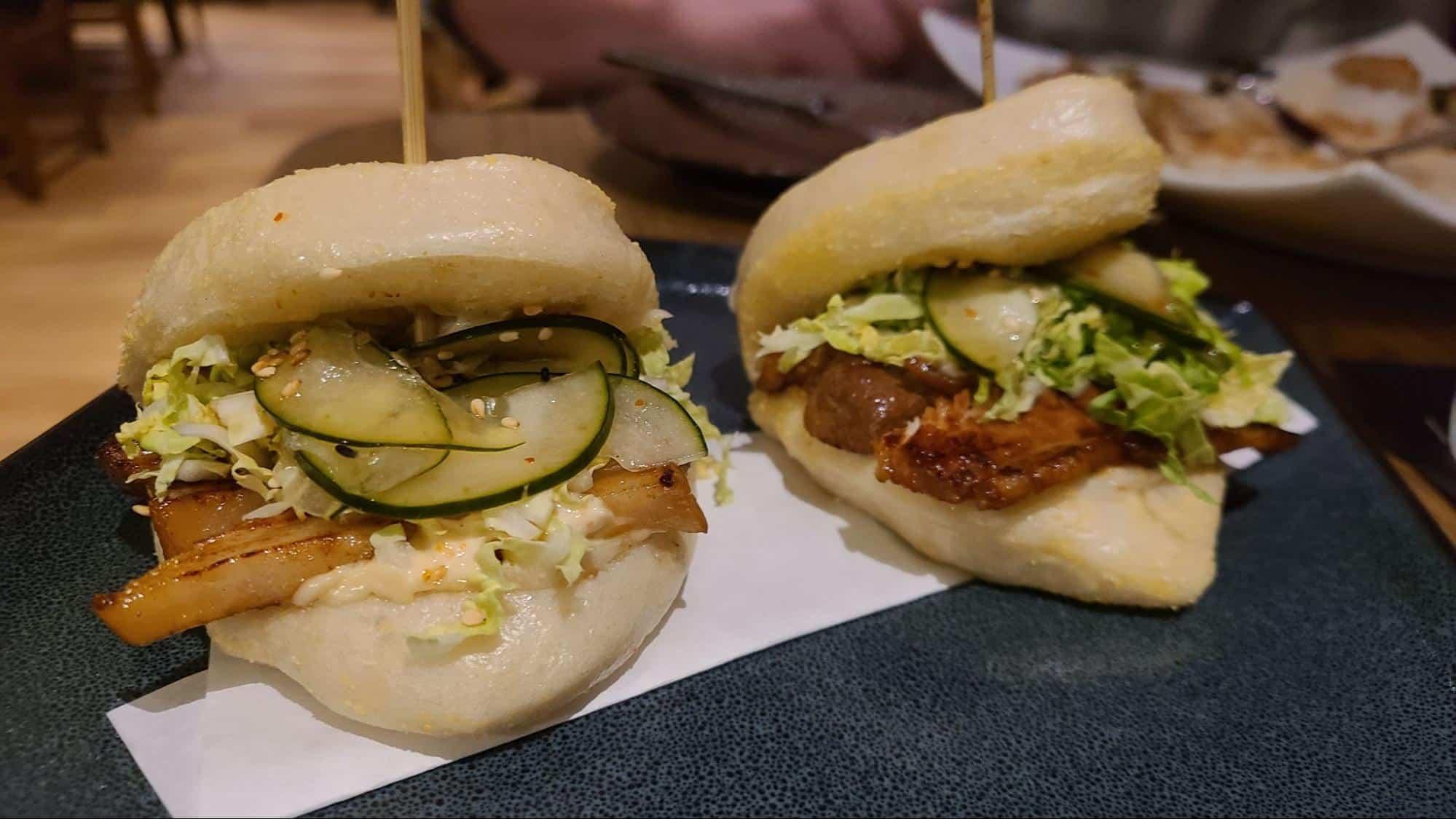 Egg rolls and pork buns at Kasai Izakaya