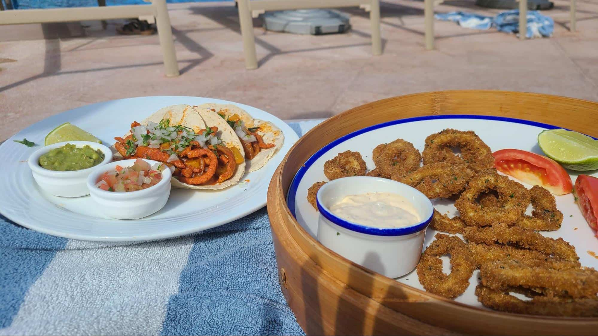 Poolside order of food at Marriott Cancun Resort