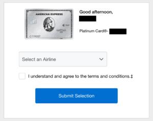 airline credit amex platinum