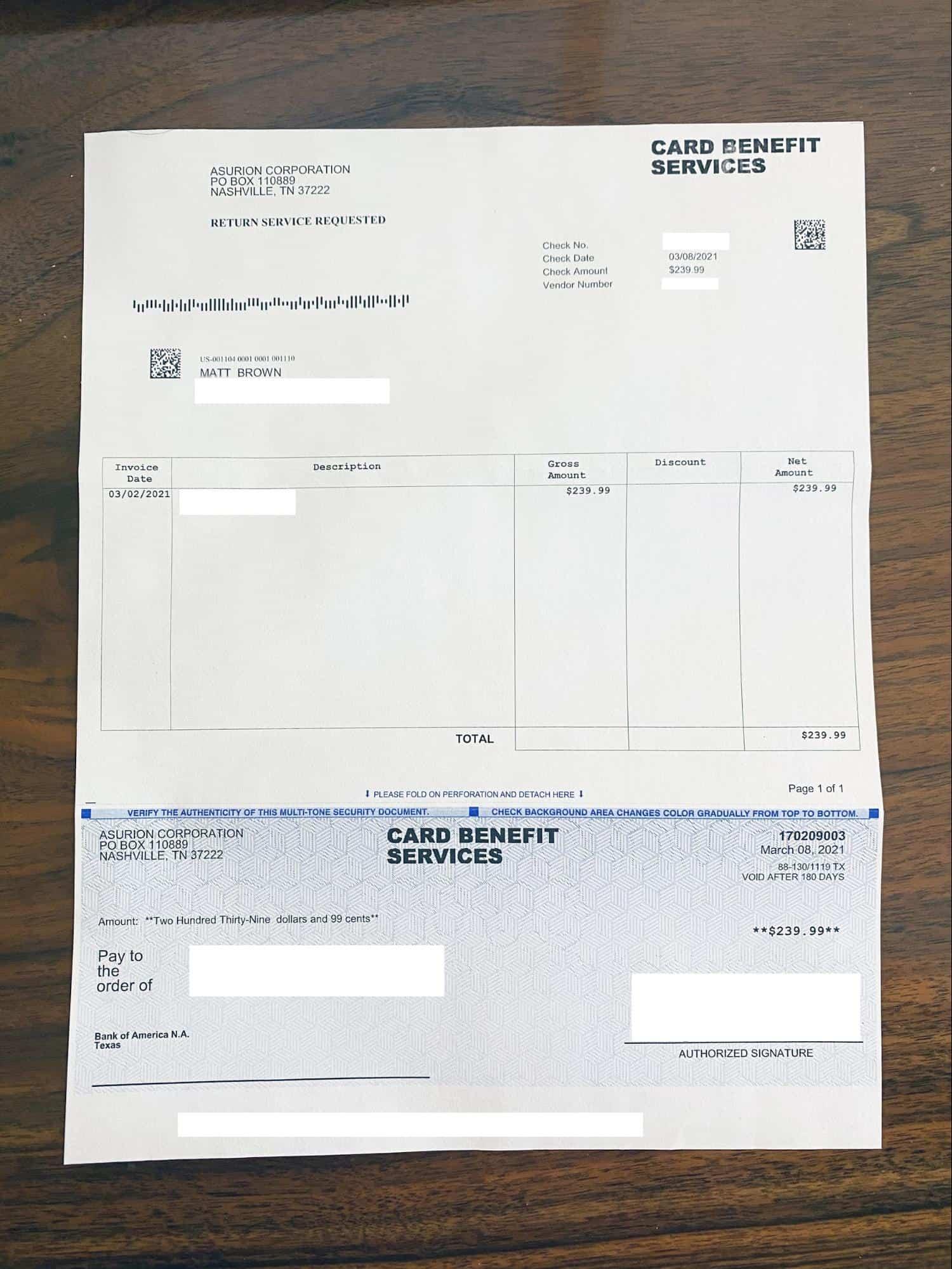 card benefit services asurion