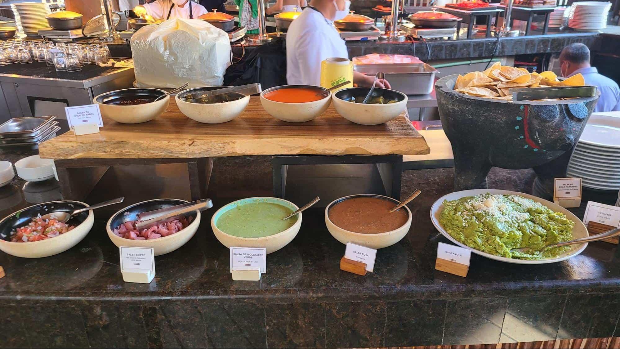 yogurt and freshly made guacamole