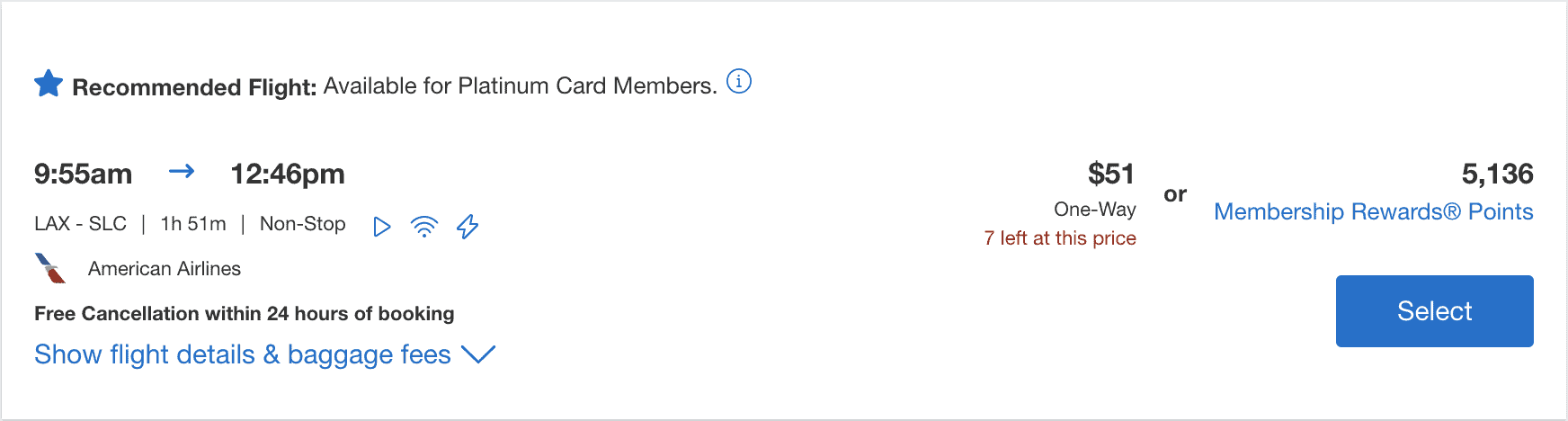 American Express Membership Rewards Points - Amex Points Redemption Options_flights