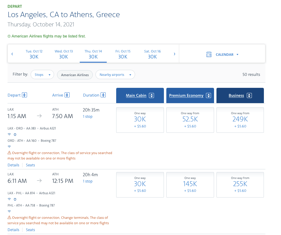 Booking A Flight with American Airlines AAdvantage Miles2