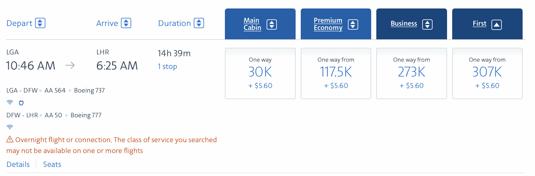 american airlines miles value