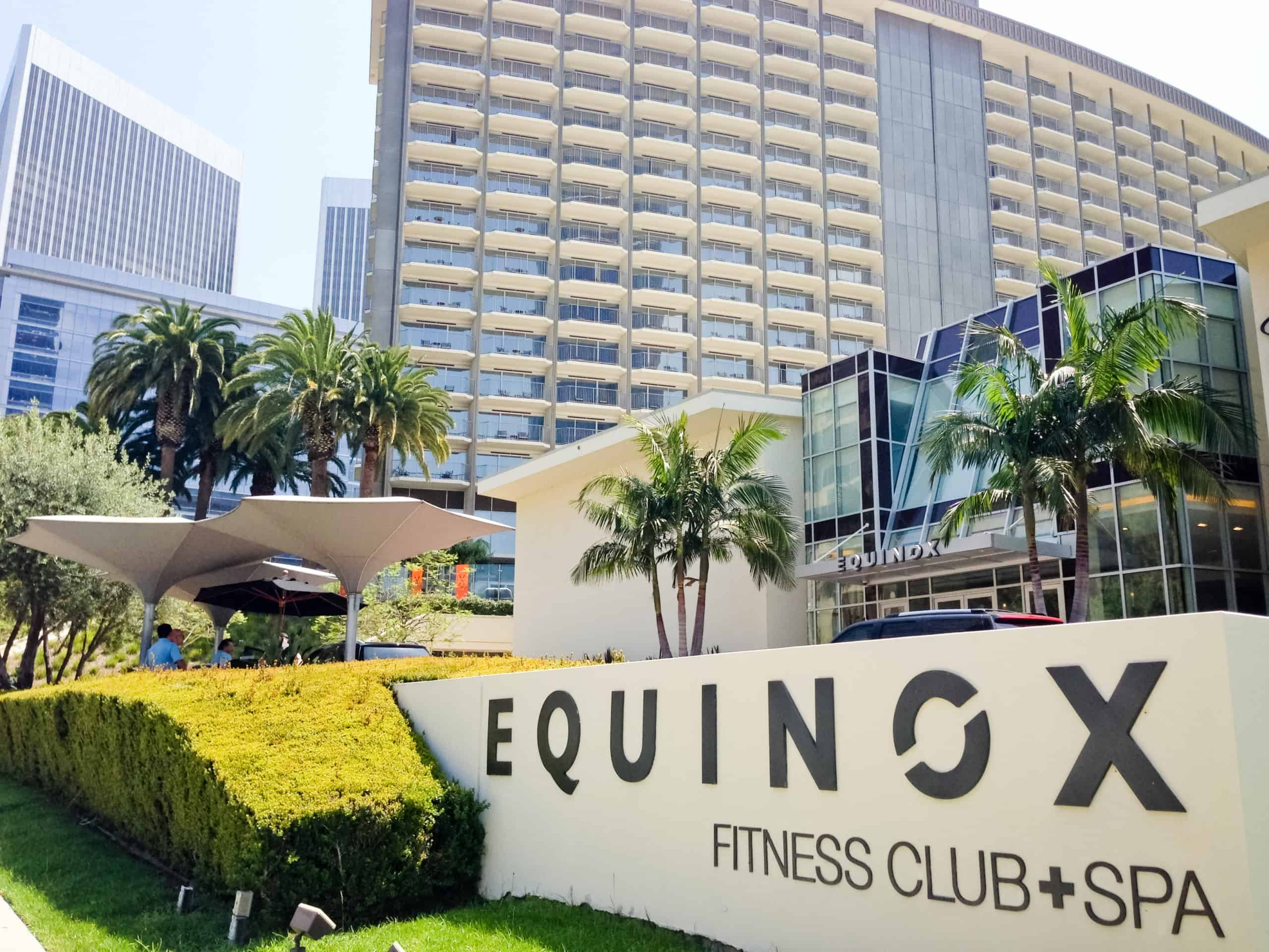 Outside image of sign showing equinox fitness club