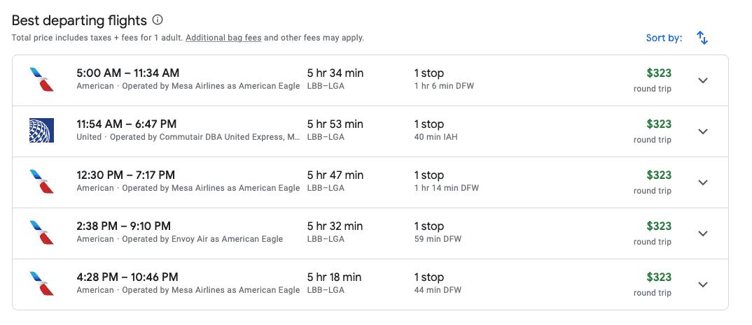 best departing flights