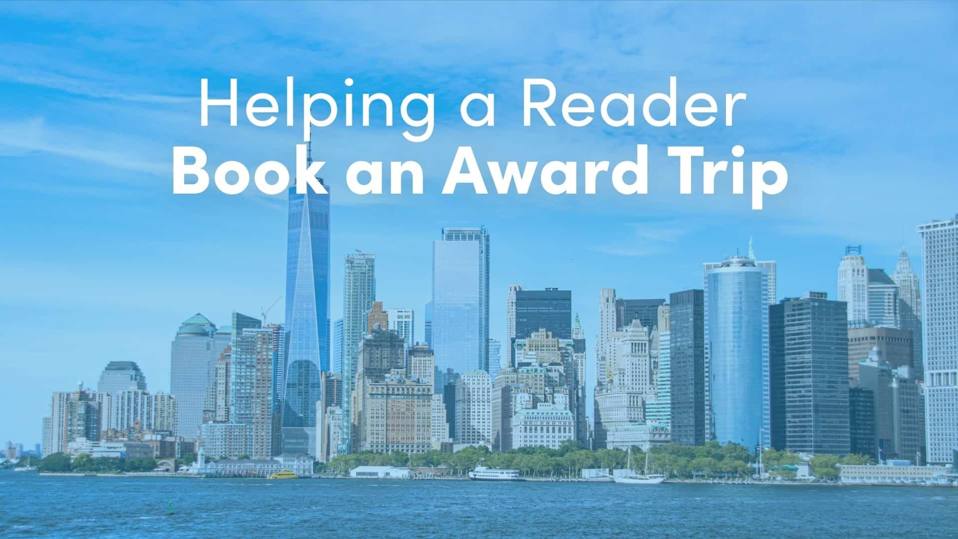 booking an award trip